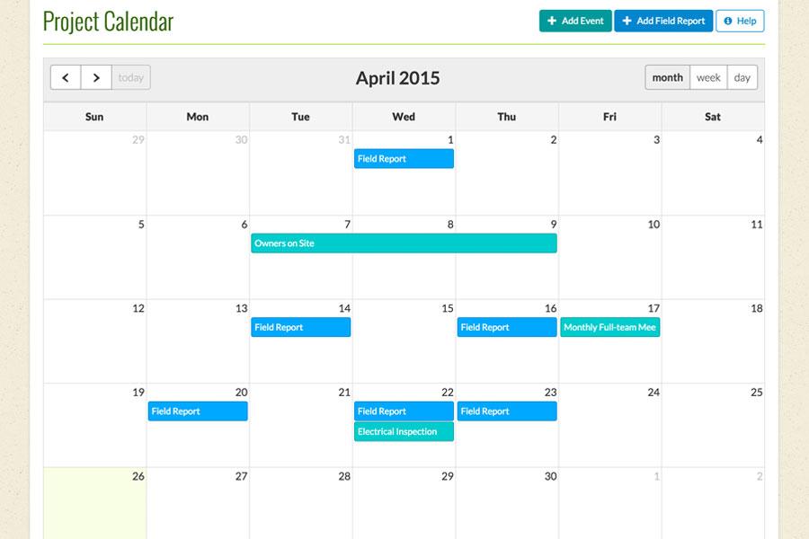 Construction Project Calendar Cm Fusion